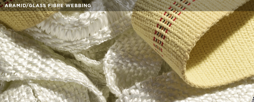 Aramid/Glass Fibre Webbing