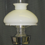 Aladdin Electric Table Lamp Silcrom (solid brass) cw Opal Shade