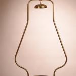 Aladdin Tubular Hanging Frame Brass